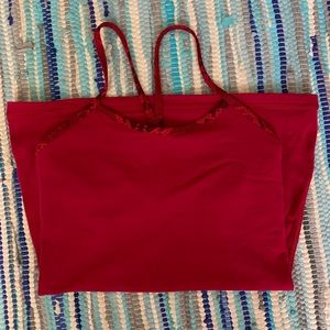 lululemon power Y tank (red with snakeskin) size 4